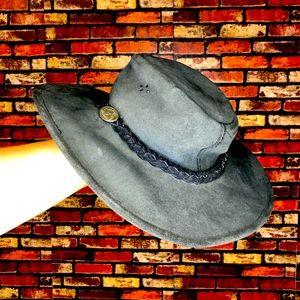 Women's Small Vintage Leather Aussie Bush Hat